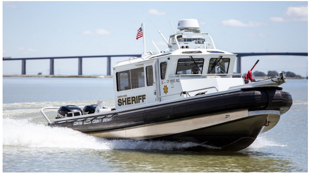 Photo of a moving Marine Patrol Boat