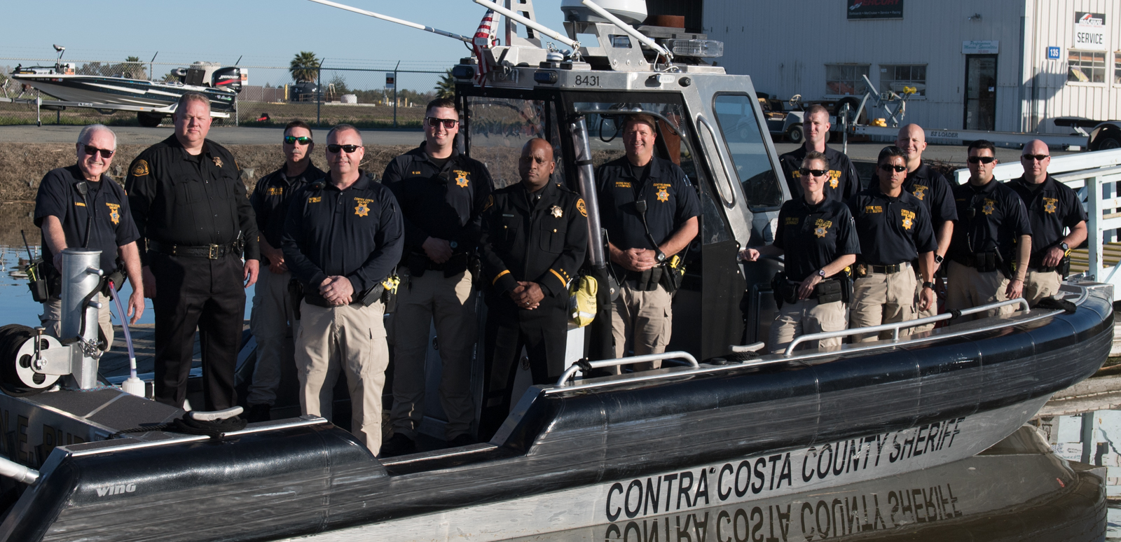 Photo of Marine Patrol boat and officers